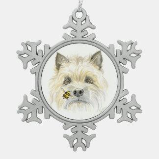 Het bij-Utiful ornament van de Sneeuwvlok van de Tin Sneeuwvlok Ornament