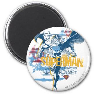 Het BioOntwerp van de superman Ronde Magneet 5,7 Cm