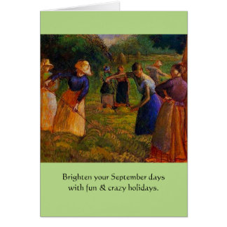 het bizarre vakantie van September Briefkaarten 0