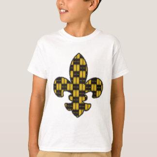 Het Black Goud van Mardi Gras Fleur DE Lis T Shirt
