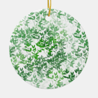 Het blad Ontwerp van het Patroon Rond Keramisch Ornament