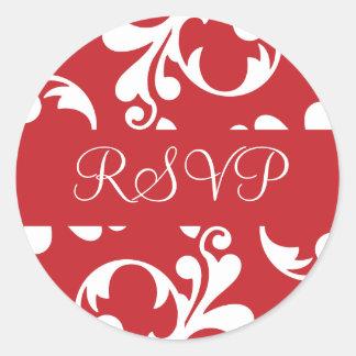 Het Blad RSVP bloeit de Verbinding van de Sticker
