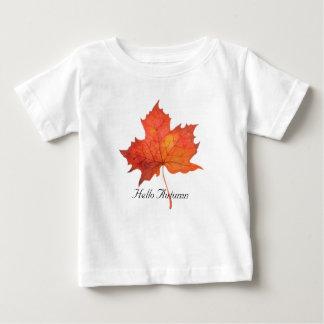 Het Blad van de Esdoorn van de waterverf Baby T Shirts