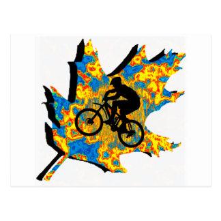 Het Blad van de Hippie van de fiets Briefkaart