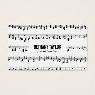 Het Blad van de muziek Visitekaartjes