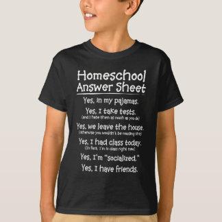 Het blad van het Antwoord Homeschool T Shirt