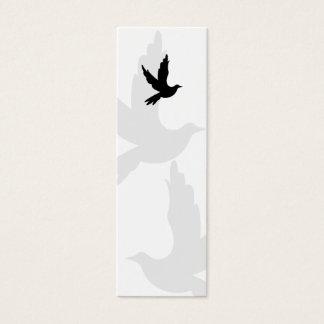 Het Bladwijzer van het Silhouet van de duif Mini Visitekaartjes