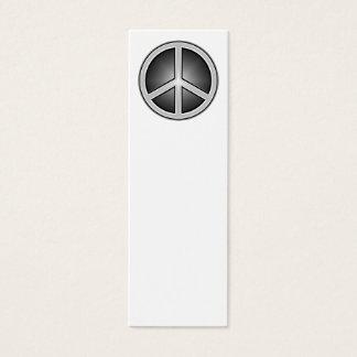 Het Bladwijzer van het Teken van de vrede Mini Visitekaartjes
