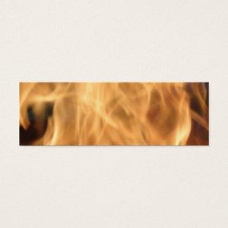 Het Bladwijzer van vlammen Mini Visitekaartjes