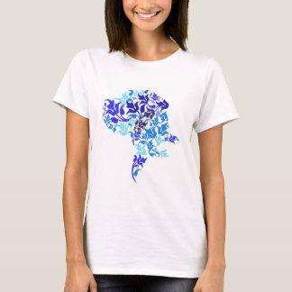 Het blauw doorbladert Great dane T Shirt