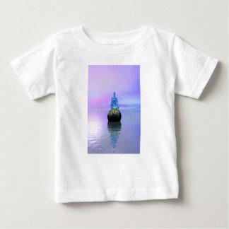 het blauw en de wereld van Boedha Baby T Shirts