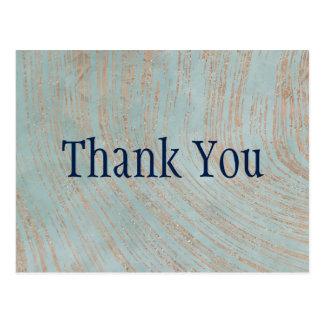 Het blauw en het Marmer van het Koper danken u Briefkaart