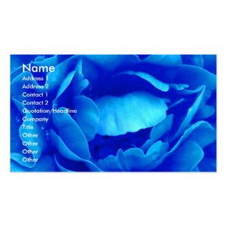 Het blauw nam Bloemist I Visitekaartje toe