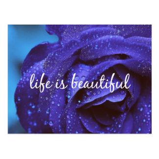 Het blauw nam het Leven is Mooi Citaat toe Briefkaart