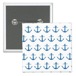 Het blauw schittert de Knoop van het Patroon van Vierkante Button 5,1 Cm