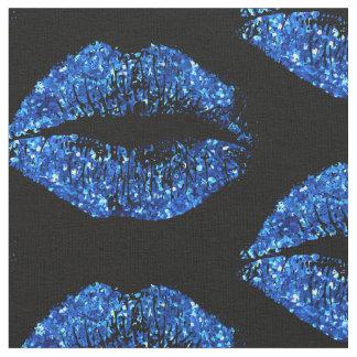Het blauw schittert Lippen #2 Stof