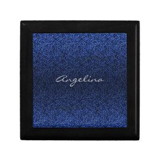 Het blauw schittert Monogram Decoratiedoosje