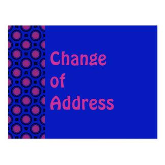 Het Blauw van de adreswijziging Met paars stip Briefkaart