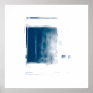 Het Blauw van de gradiënt Poster