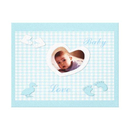 Het Blauw van de Jongen van het baby controleert d Gallerij Wrap Canvas