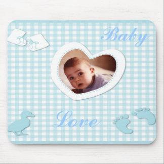 Het Blauw van de Jongen van het baby controleert d Muismat