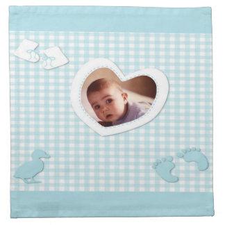 Het Blauw van de Jongen van het baby controleert d Servetten