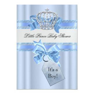 Het Blauw van de Jongen van het baby shower Weinig 12,7x17,8 Uitnodiging Kaart