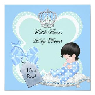 Het Blauw van de Jongen van het baby shower Weinig 13,3x13,3 Vierkante Uitnodiging Kaart