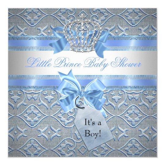 Het blauw van de jongen van het baby shower weinig 13 3x13 3 vierkante uitnodiging kaart zazzle - Turquoise ruimte van de jongen ...