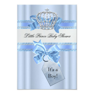 Het Blauw van de Jongen van het baby shower Weinig Kaart