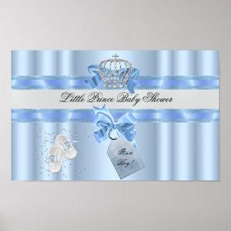 Het Blauw van de Jongen van het baby shower Weinig Poster