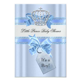 Het Blauw van de Jongen van het baby shower Weinig Persoonlijke Uitnodigingen