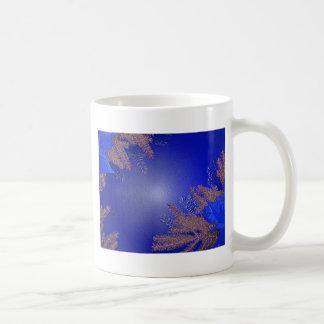 Het Blauw van de Poinsettia van Kerstmis Basic Witte Mok