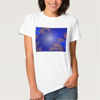 Het Blauw van de Poinsettia van Kerstmis Shirt