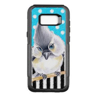 Het Blauw van de Polka van de mees OtterBox Commuter Samsung Galaxy S8+ Hoesje