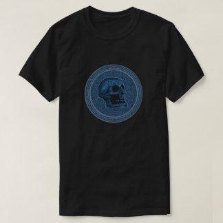 Het Blauw van de SCHEDEL - binnen de Achtergrond T Shirt