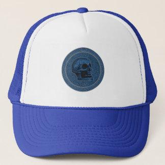 Het Blauw van de SCHEDEL - binnen de Achtergrond Trucker Pet