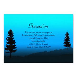 Het Blauw van de Schemer van de Berg van de Kaart 8,9x12,7 Uitnodiging Kaart