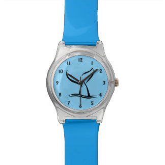 Het Blauw van de Staart van de walvis met Zwarte Horloges