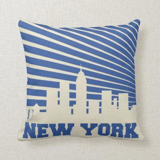 Het Blauw van de Stad van New York Sierkussen