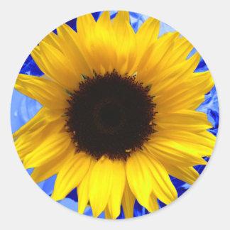 Het Blauw van de zonnebloem Ronde Sticker