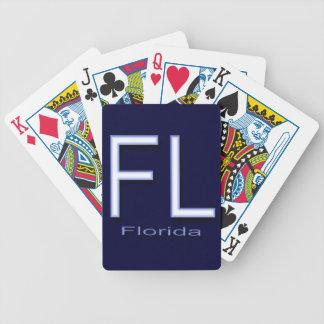 Het blauw van FL Florida Pak Kaarten