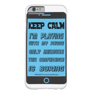 Het Blauw van het hoesje houdt Kalme Telefoon