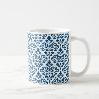 Het Blauw van Ptn DK van het Damast van de rol op Koffiemok