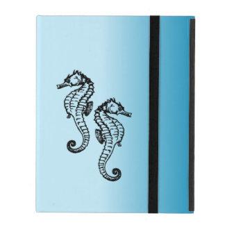 Het Blauw van Seahorse iPad Hoesje