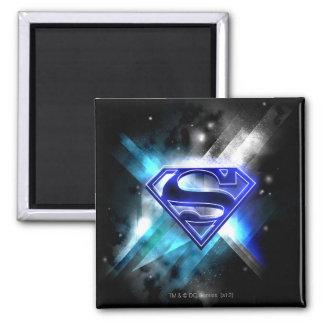 Het blauw-witte Logo van de Superman van het Krist Vierkante Magneet