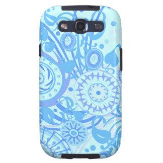 Het blauwe Abstracte Geval van de Melkweg van Sams Galaxy S3 Cases