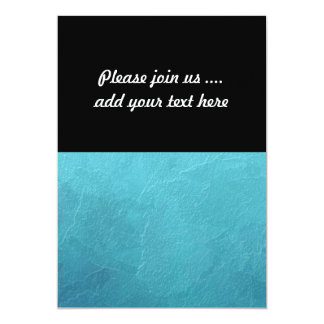 Het blauwe Abstracte Kunstwerk van het Ijs 12,7x17,8 Uitnodiging Kaart
