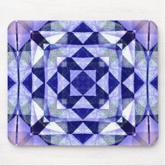 Het blauwe Abstracte Muismat van de Kunst van het