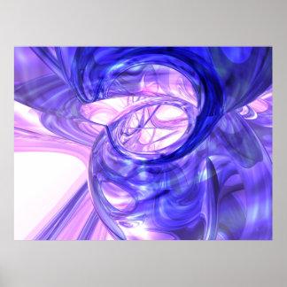 Het blauwe Abstracte Poster van de Rook